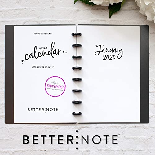 Amazon.com: BetterNote 2020 Monthly Calendar For Disc-Bound