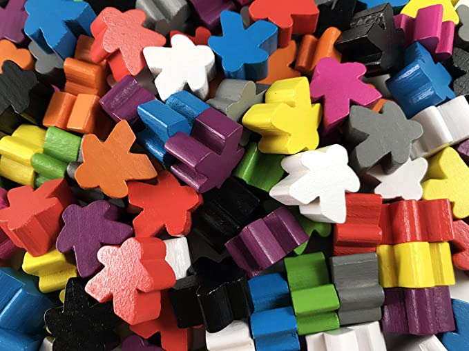 Meeples Wooden Meeples 16mm Silver x 10 Games Accessories