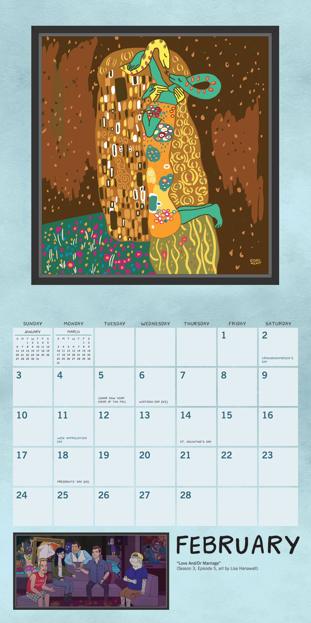 Bojack Horseman 2019 Wall Calendar The Art Of The Art Bojack