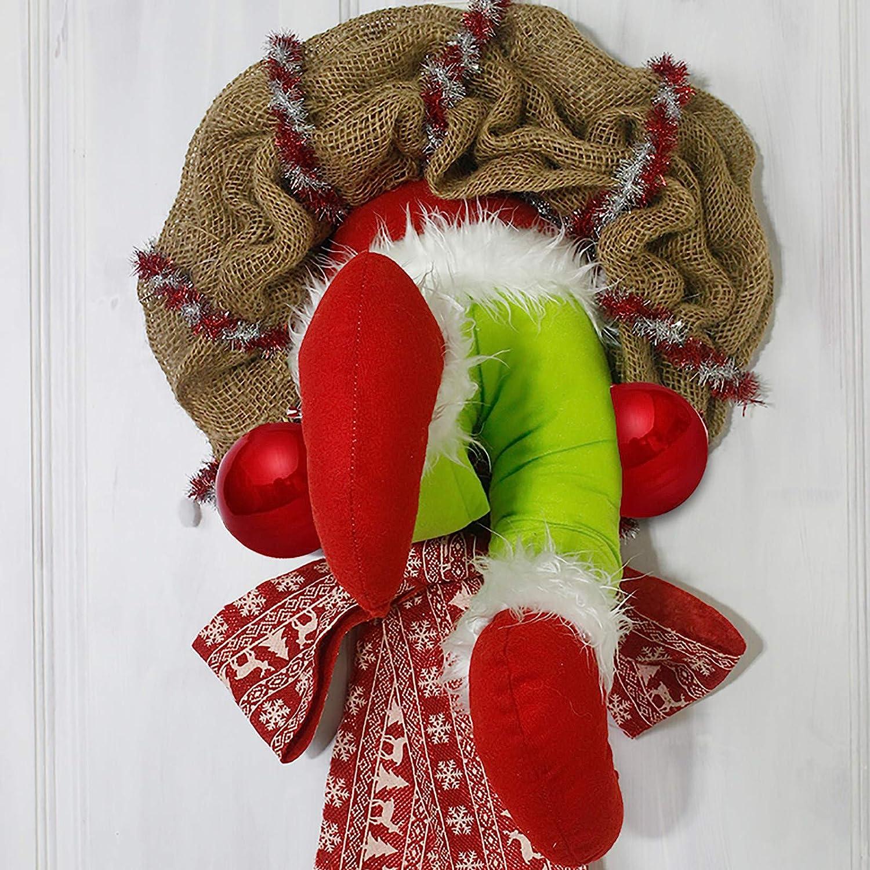 Details about  /XMAS Thief Burlap Stealer Design Wreath Hoop Xmas Home So Door Cute BEST G1Q4