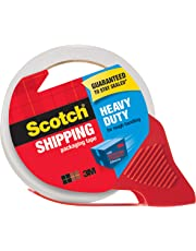 """Scotch Packing Tape Heavy Duty Shipping Tape, 1.88"""" x 35m, 1 Roll with Dispenser"""
