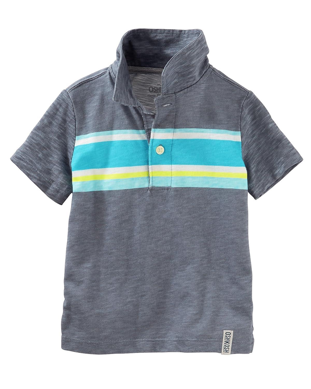 8 Blue OshKosh Boys Engineered Stripe Jersey S//S Polo