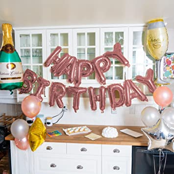 Happy Birthday Banner Balloons Decorations