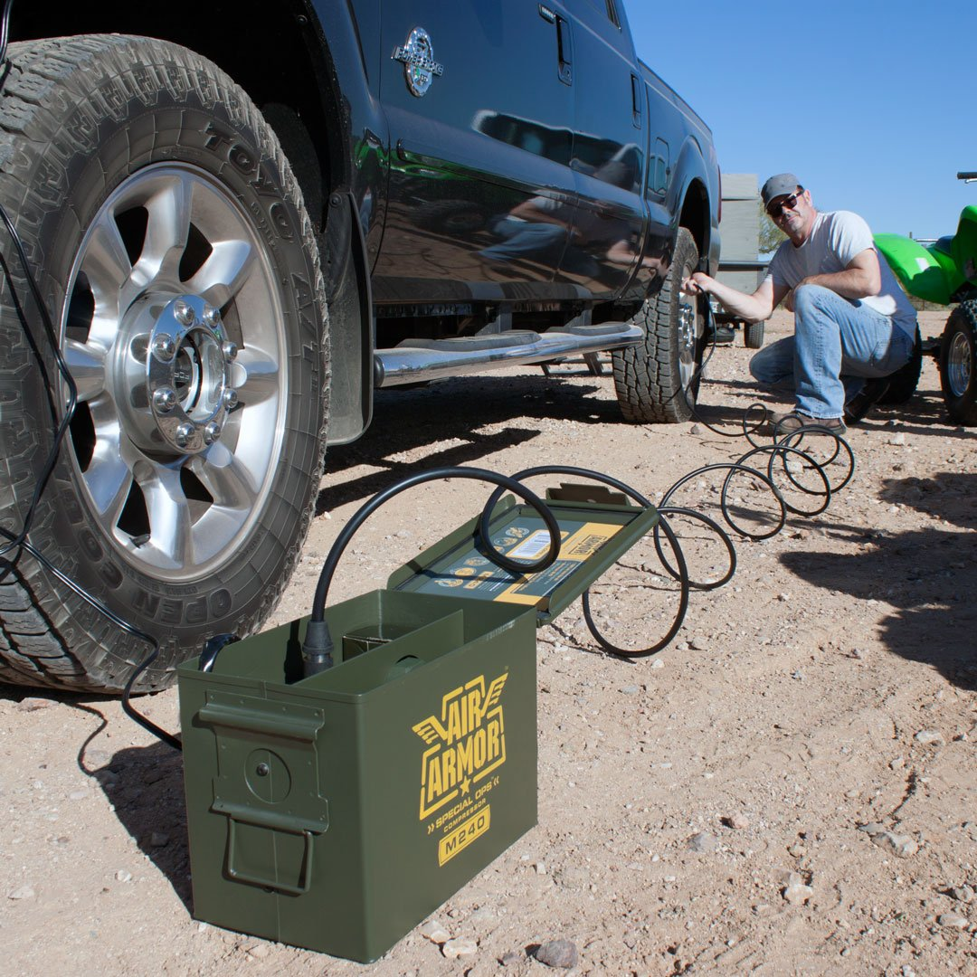 Air Armor M240 Portable 12-Volt Tactical Air Compressor Kit Tire Inflator by Air Armor (Image #8)