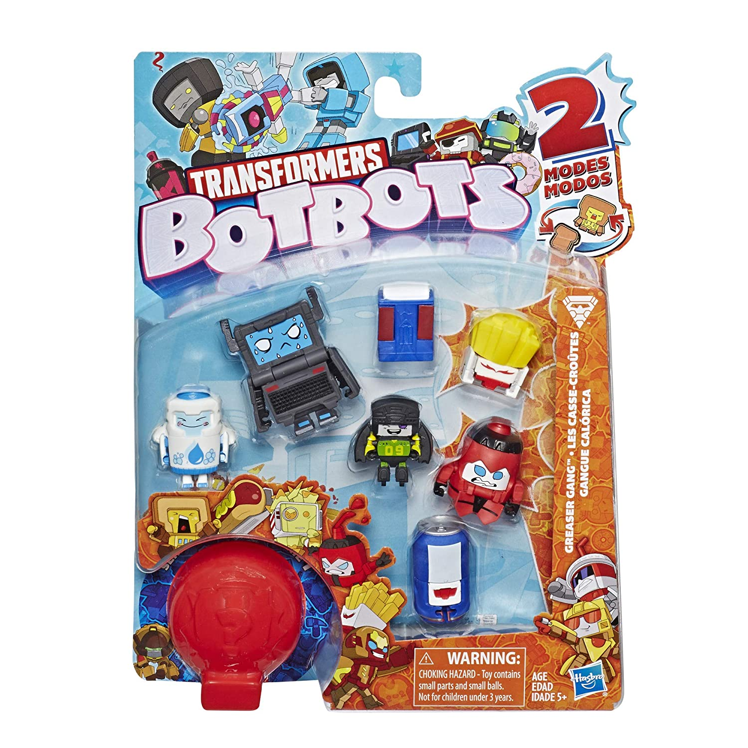 Transformers Botbots Toys Series 1 Greaser Gang 8 Pack Mystery 2 In 1 Collectible Figures