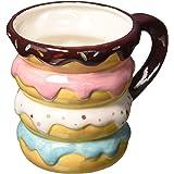 Boston Warehouse Mug, Donut Stack, 18oz Capacity, Hand Painted Ceramic