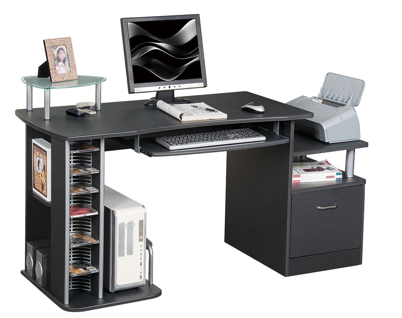 SixBros. Office - Scrivania ufficio porta pc nero granito - S-202A/85 - Struttura MDF nero granito