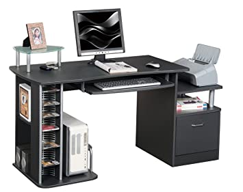 Sixbros bureau informatique noir s a amazon