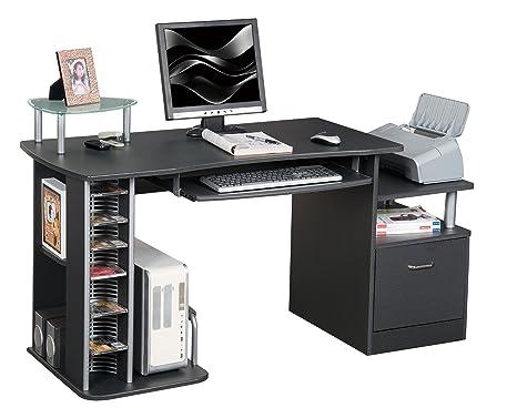 Posizione Scrivania Ufficio : Sixbros office scrivania ufficio porta pc nero granito s a