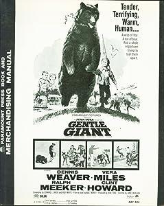 Ivan Tors Gentle Giant (1967) Dennis Weaver, Vera Miles, Ralph Meeker pressbook