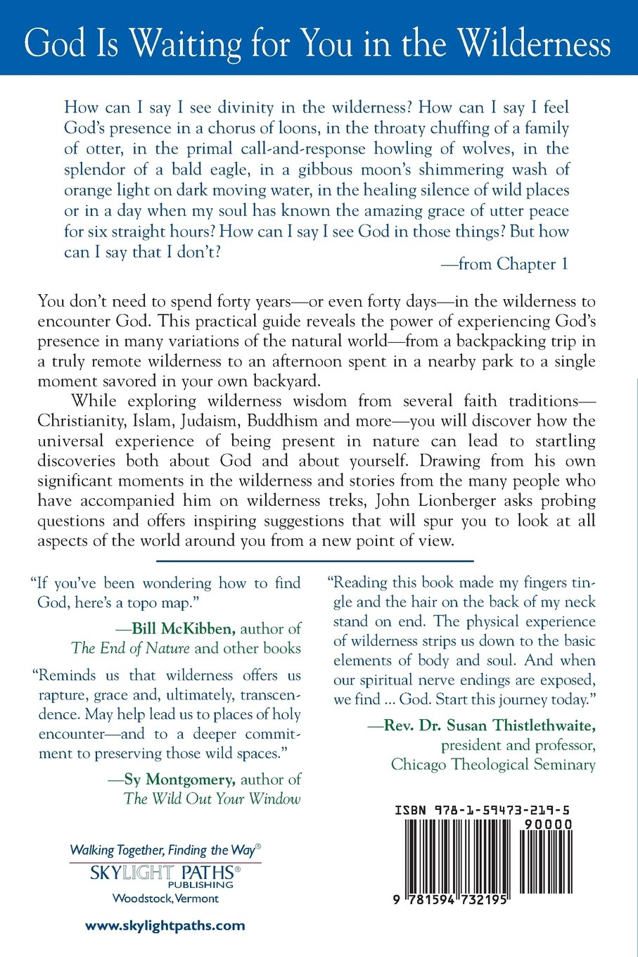 renewal in the wilderness a spiritual guide to connecting with