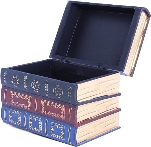 Caja de libros decorativa de madera de gran tamaño de Royal Brands ...