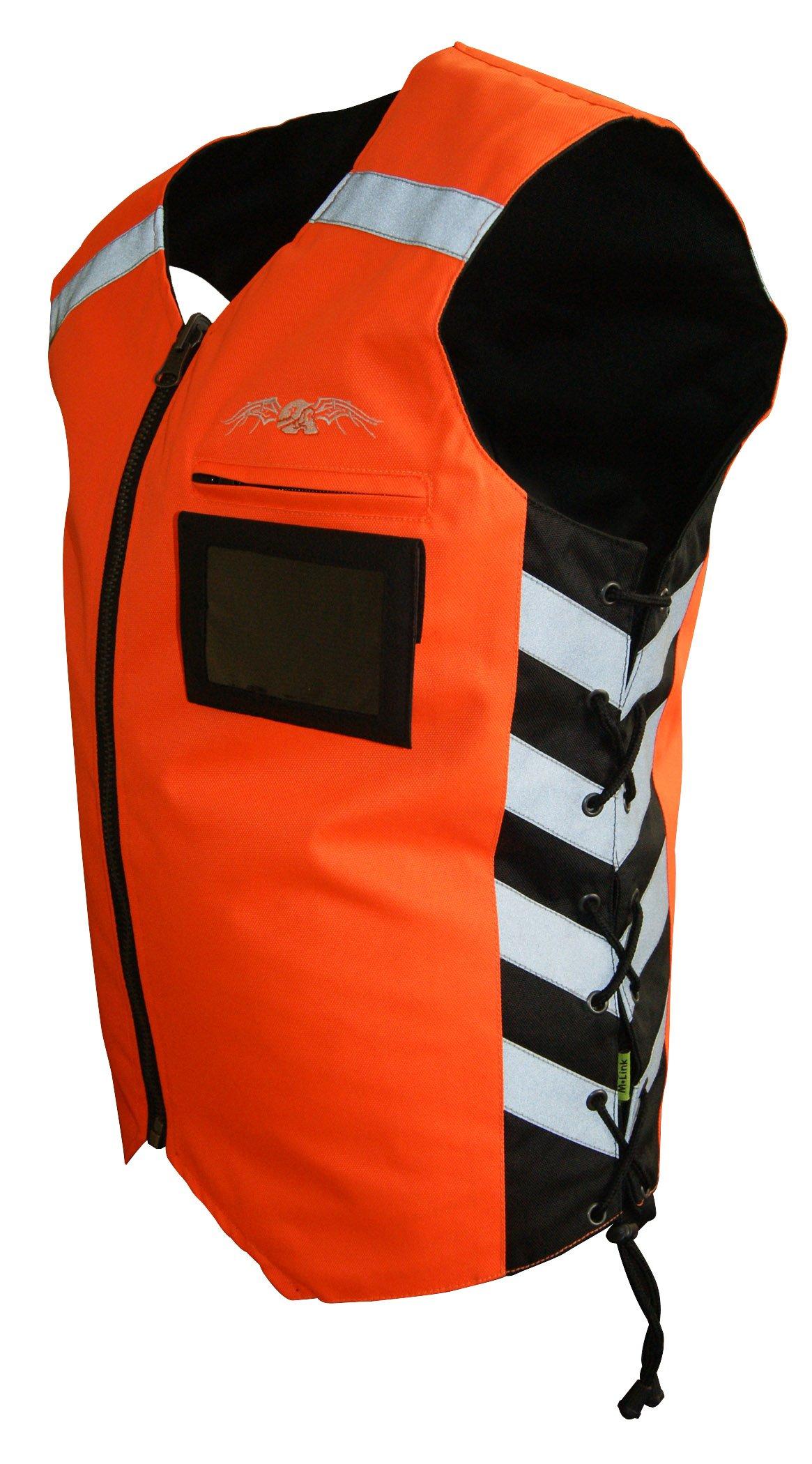 Missing Link Military Duty Reversible Safety Vest (Black/Orange, Medium) by Missing Link