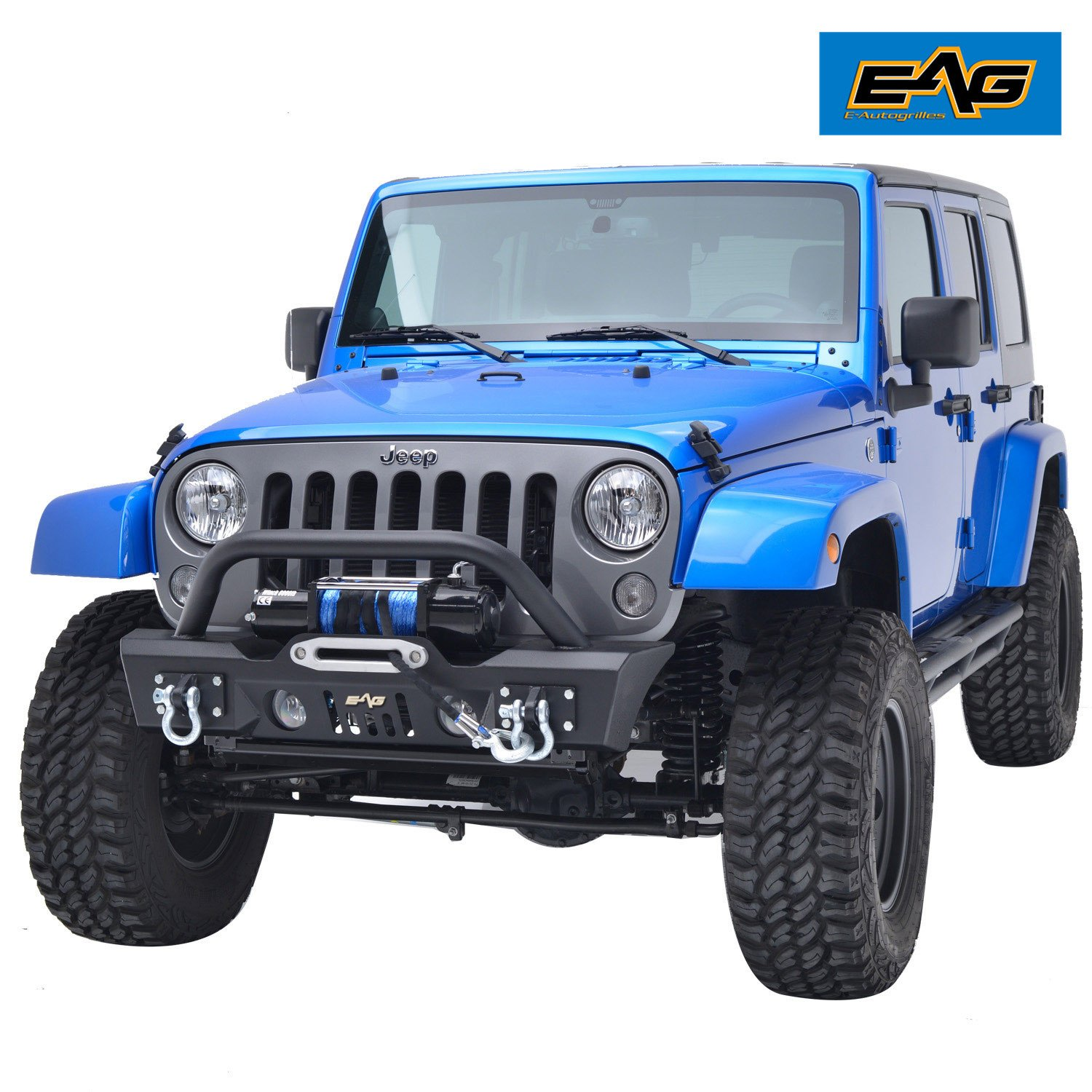 Eag 07 18 Jeep Wrangler Jk Stubby Front Bumper With Oe Fog Light Lights Housing 51 0357 Bumpers Automotive Tibs