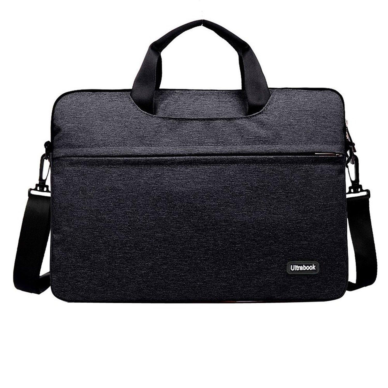 11.6 Inch Laptop Sleeve Bag, Youpeck Slipcase Handle Carrying Shoulder Messenger Case Briefcase for Macbook Air 11 12/ Surface Pro 4 3/ HP ASUS Dell Acer Samsung Tablet - Black