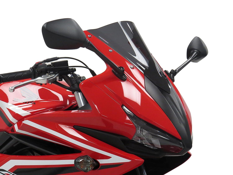 Powerbronze 400-H142-002 dark tint Airflow (double bubble) screen to fit Honda CBR500R 16-17
