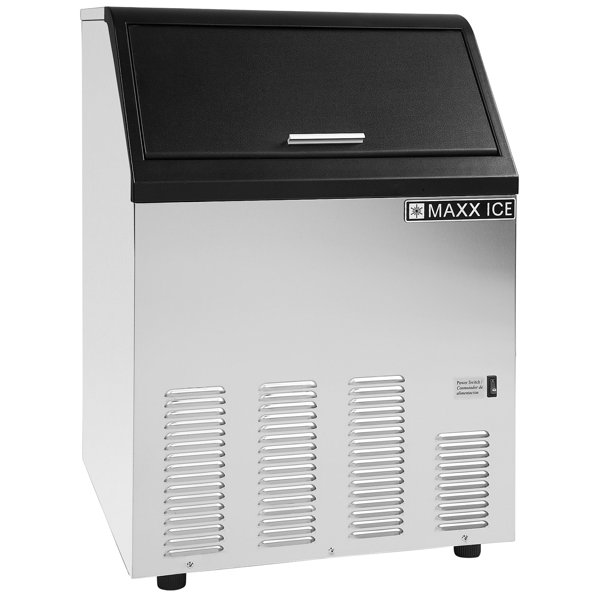 Maxx Ice MIM130X Energy Star Commercial 130 Pound Self Contained Clear Bullet Ice Maker - REFURBISHED