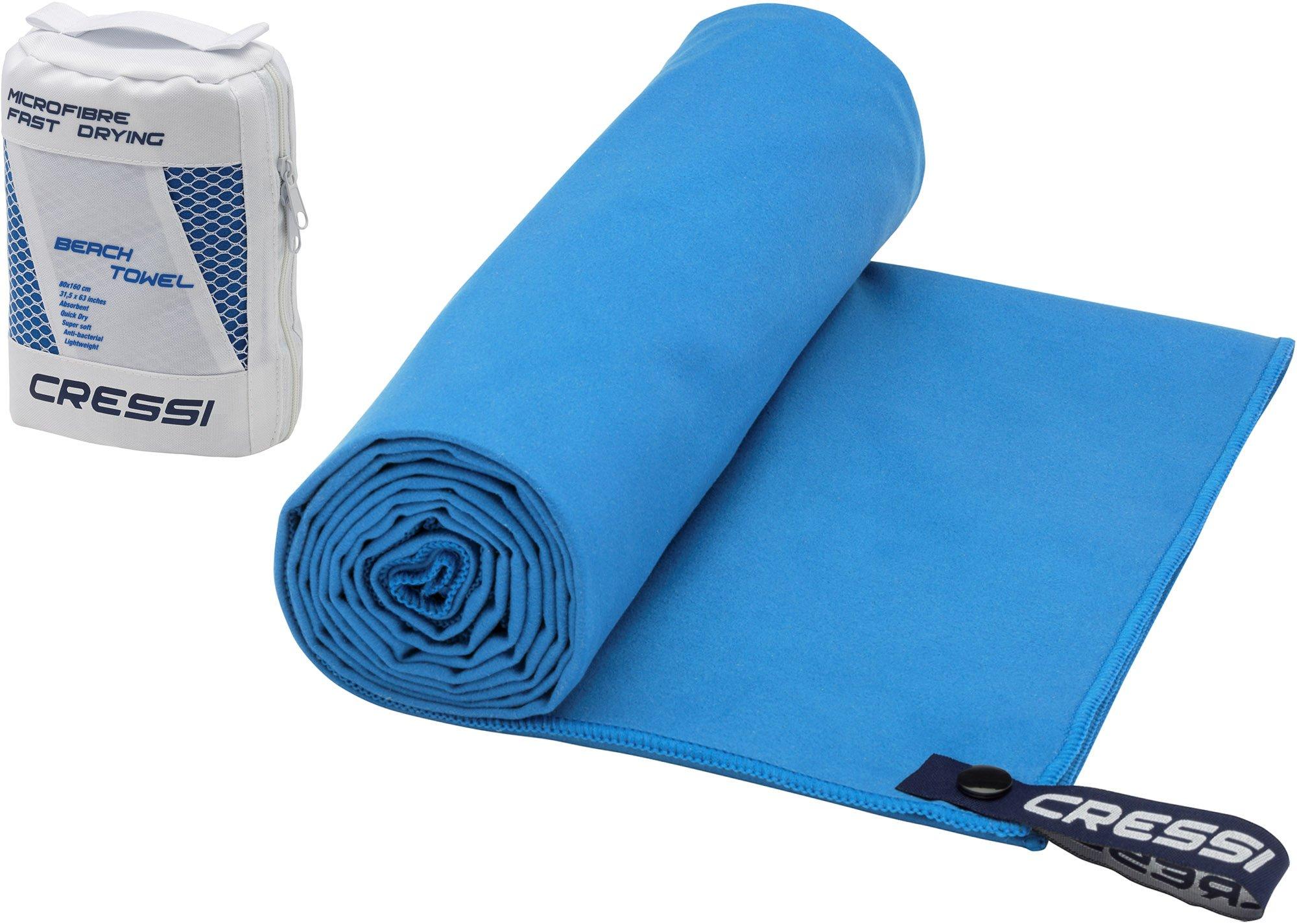 Cressi Microfibre Fast Drying Beach Towel Toalla de Sport, Unisex Adulto, Azul Claro,