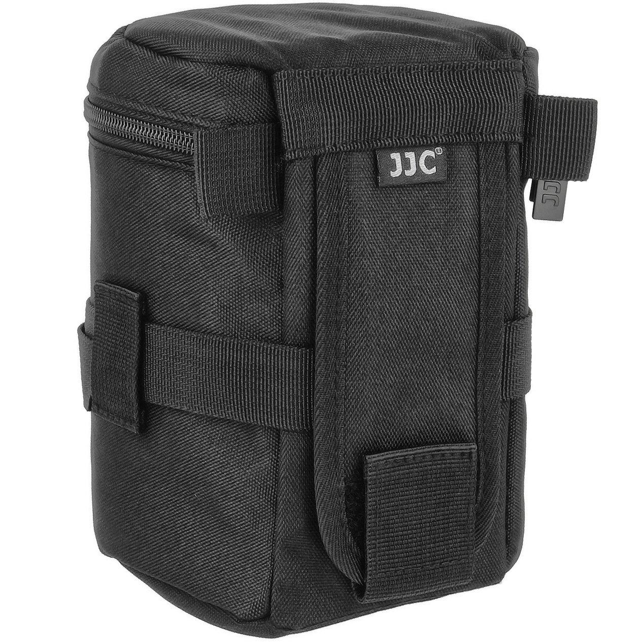 JJC – Funda para objetivo para objetivos bolsas para objetivos de cámara con correa de hombro – Tamaño interior 85 x 150 mm – JJC Deluxe Lens Pouch ...