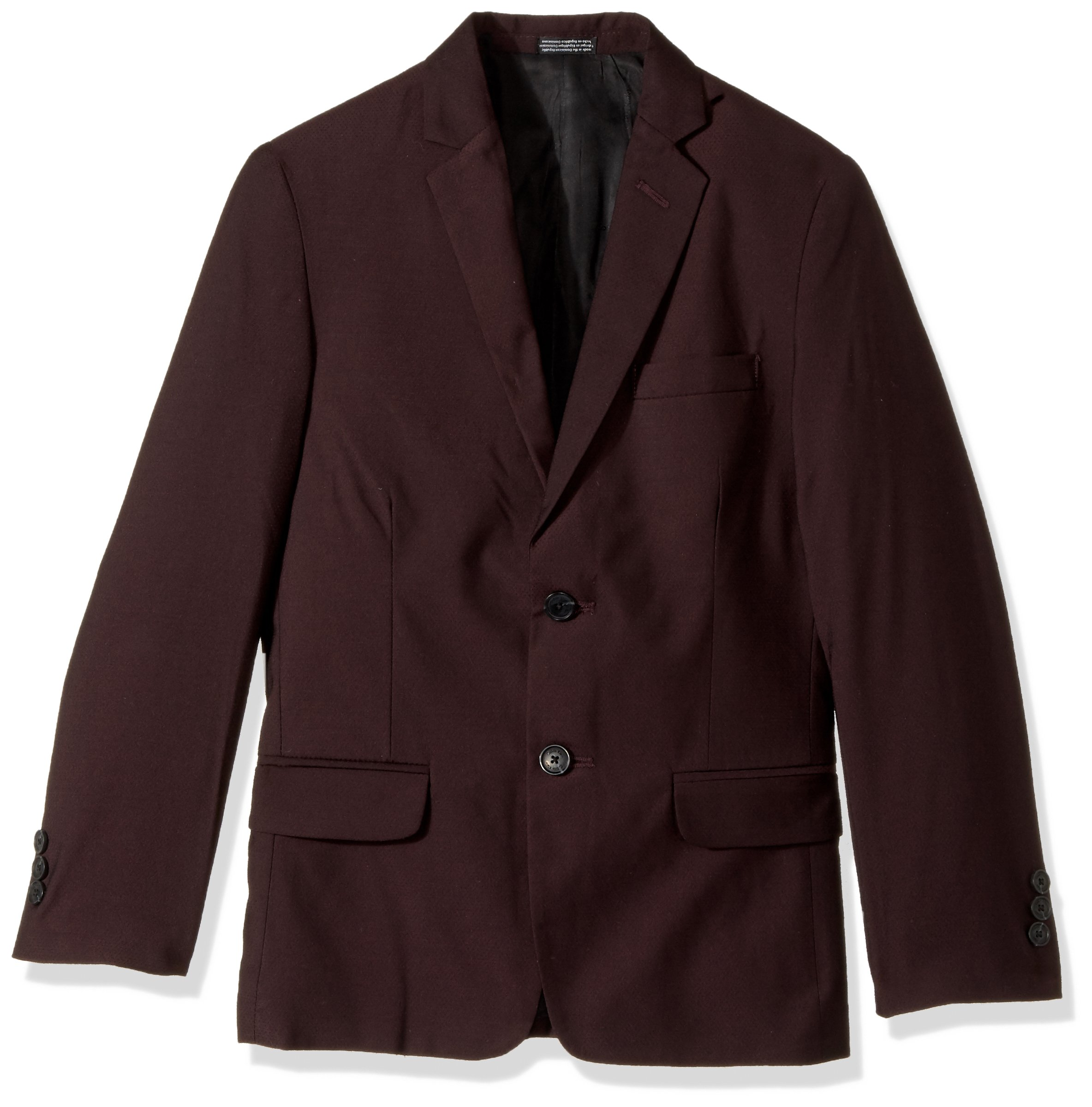 Calvin Klein Big Boys' Blazer Jacket, Square Burgundy, 20