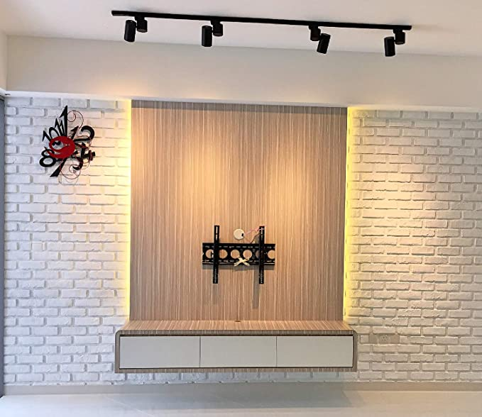 Loryro 3D Wall Panels FRP Faux Stone Wallpanel for Tv Walls, Sofa  Background, Wall Art Decorative Extrior and Interior Wall Tiles (1 Box, 45