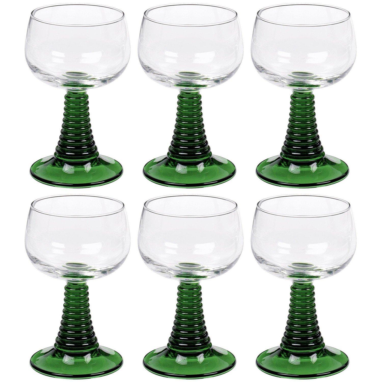 Römergläser 6 römer römergläser grün weingläser wein gläser glas 27 cl 0 2 l