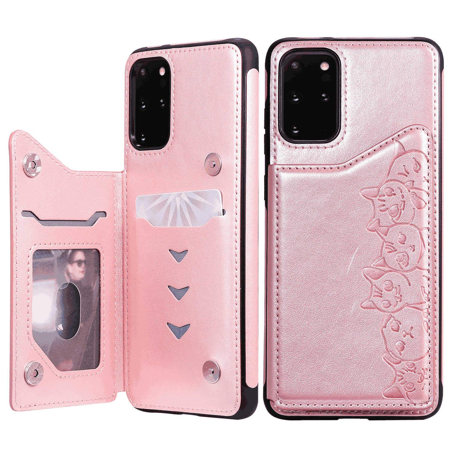 Flip Case Fit for Samsung Galaxy S10 5G Card Holders Extra-Shockproof Kickstand Leather Cover Wallet for Samsung Galaxy S10 5G