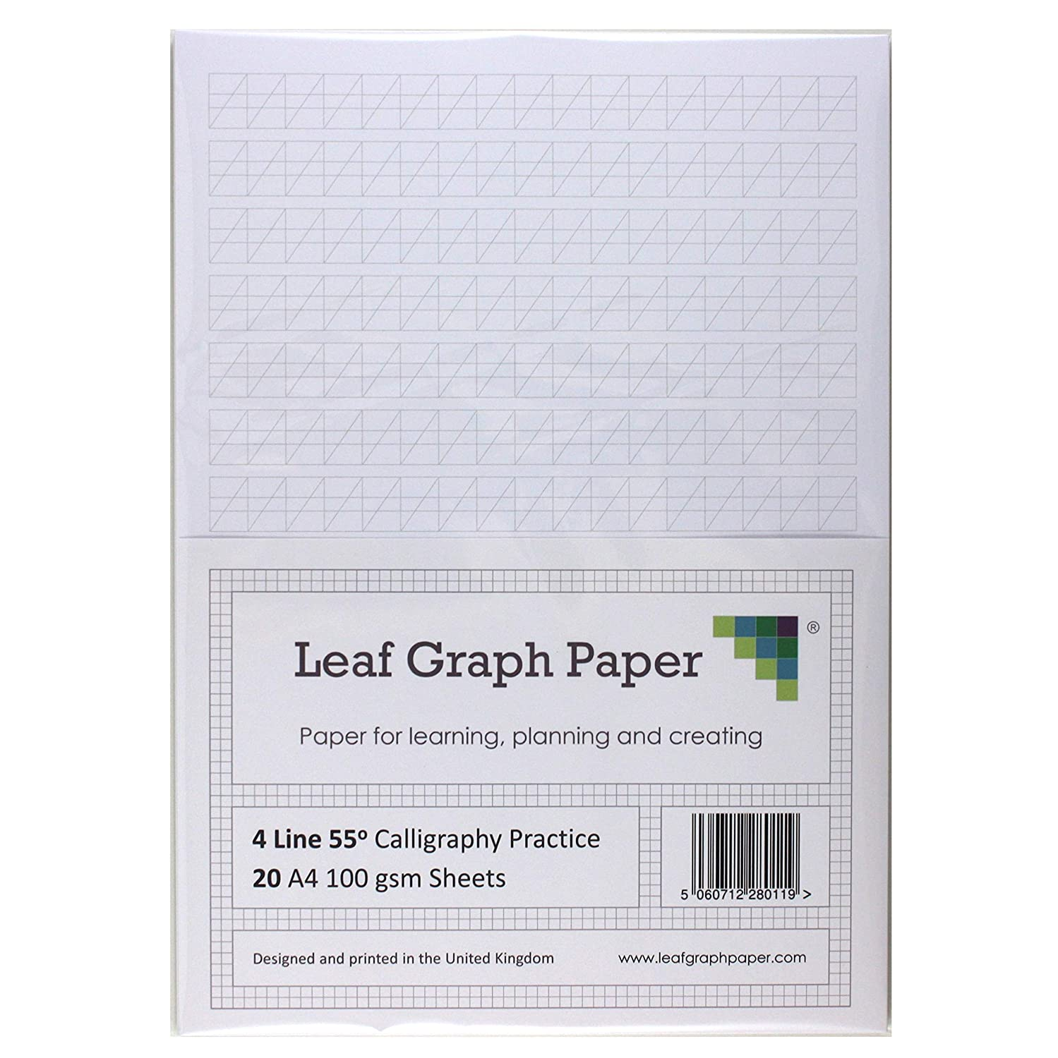4 Line Style 100gsm Calligraphy Practice Paper A4 Loose-Leaf 30 Sheet Pack