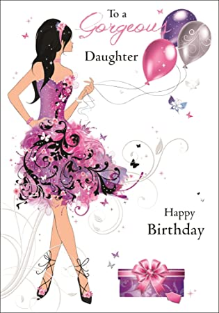 A Beautiful Daughter Birthday Card And Envelope From The Fifth Avenue Range Size