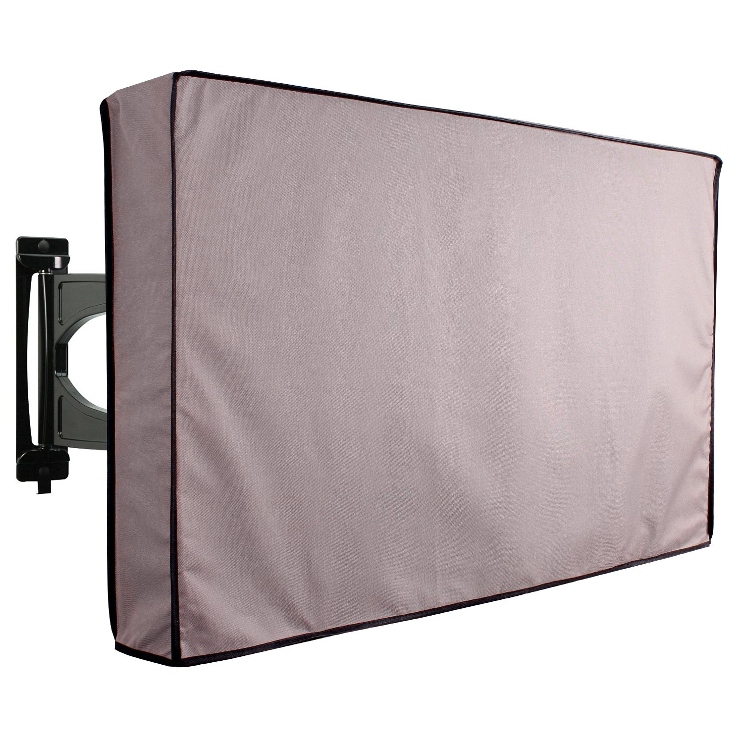 Outdoor TV Cover, Black Weatherproof Universal Protector for 40'' - 42'' LCD, LED, Plasma Television Sets - Compatible with Standard Mounts and Stands. Built In Remote Controller Storage Pocket KHOMO GEAR VC-tv-cover-40-Black