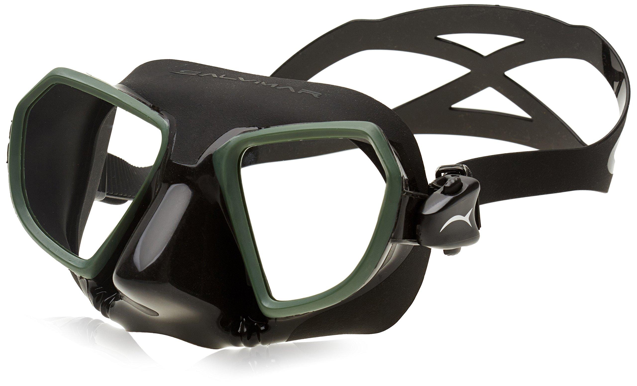 Salvimar Noah Freediving Mask, Black/Green