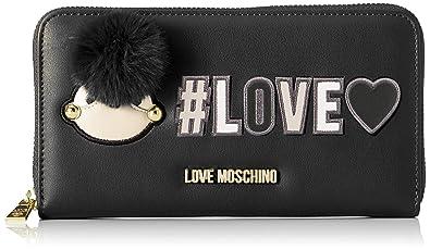 9b667d239c6 Love Moschino Portafogli Pu, Women's Wallet, Black (Nero), 3x11x20 cm (