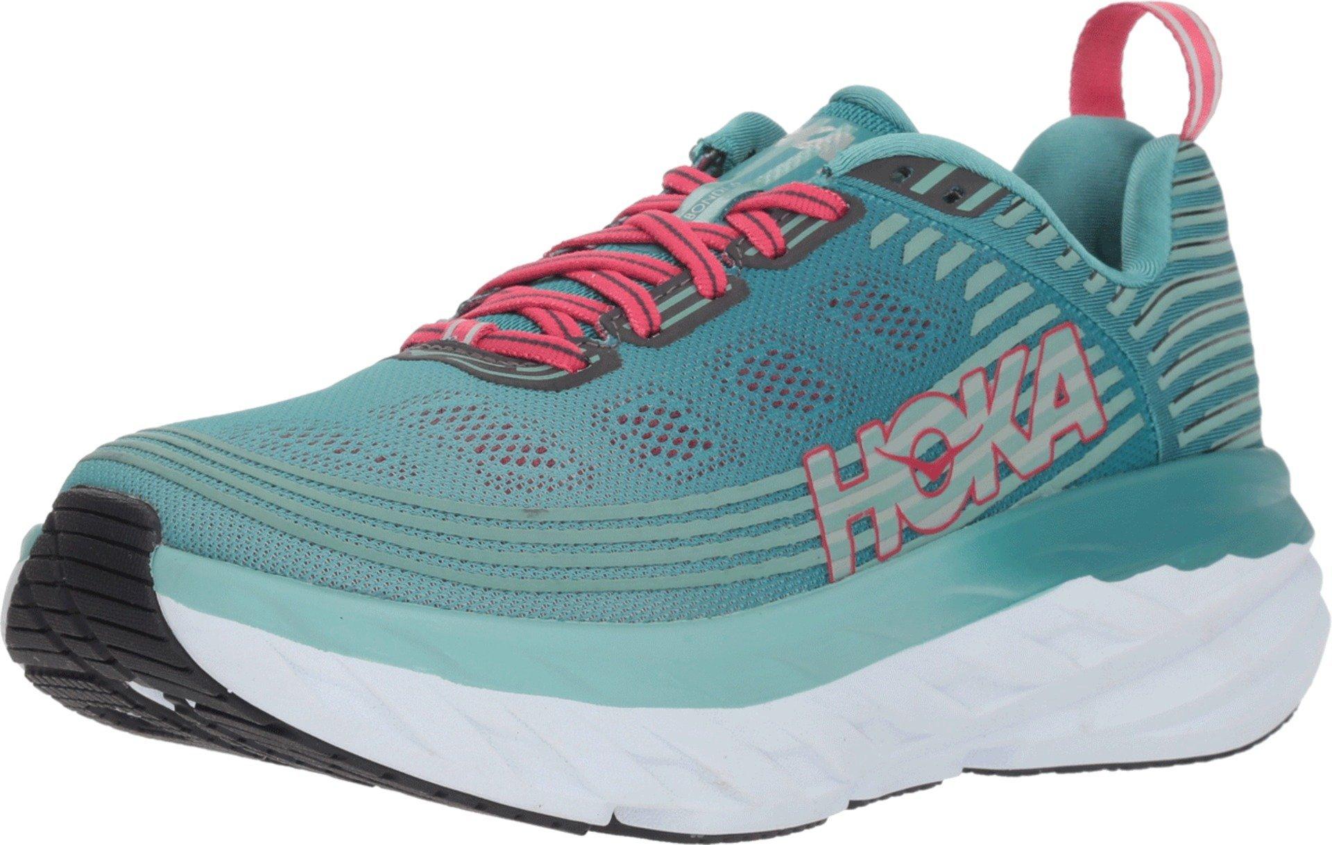 HOKA ONE ONE Men's Bondi 6 Running Shoe (5.5, Blue/Green)