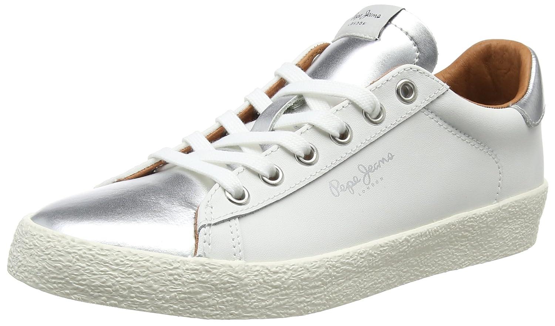 Pepe Jeans Portobello W, Zapatillas Mujer 40 EU|Plateado (Silver)
