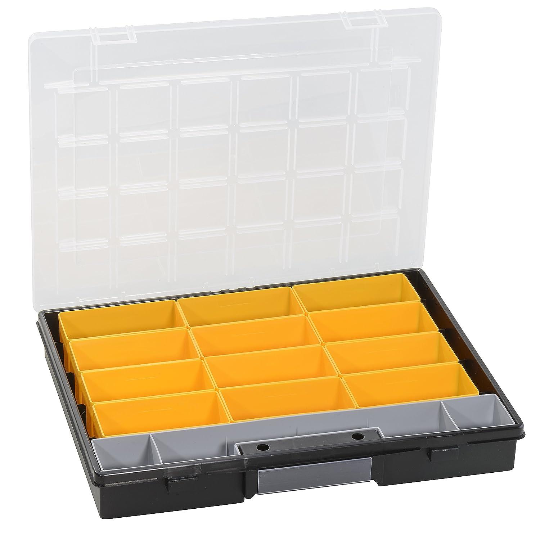Boî te de rangement, euroPlus flex 37-13, noir, 13 compartiments, en vrac Allit 457201