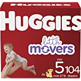 Diapers Size 5 - Huggies Little Movers Disposable Baby Diapers, 104ct, Mega Colossal Pack