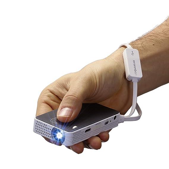 Philips PPX4350 - Proyector de Bolsillo LED (50 lúmenes, inalámbrico, 129 gr) Color Negro