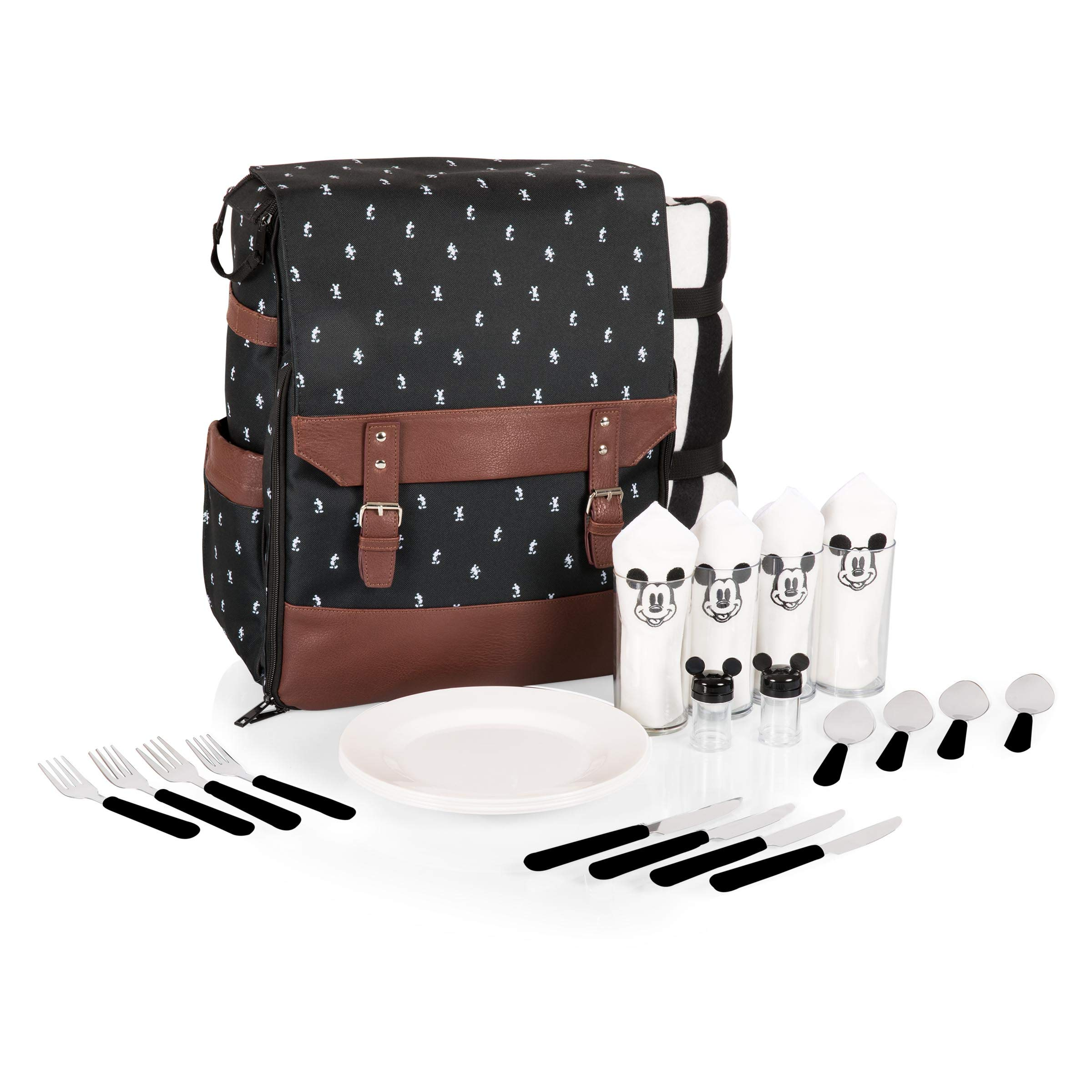 Disney Classics Mickey Mouse Insulated Picnic Backpack with Service for Four by Disney Classics (Image #1)
