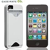 Case-Mate iPhone 4S / 4 カードホルダー付ハードケース ID Case グロッシー・ホワイト CM018613