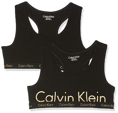 fc8351782f3 Calvin Klein Girl's Bralette Bustier, Pack of 2: Amazon.co.uk: Clothing