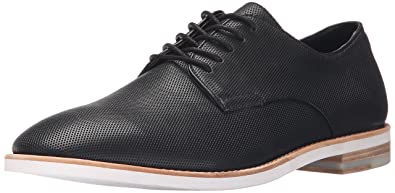 Calvin Klein Men's Agusto Diamond Perf Oxford, Black, ...