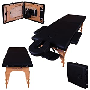 Massage Imperial¨ Black Charbury 2-Section Portable Massage Table Couch Bed Spa B
