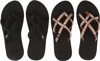 db55ac8a4e67 Teva Women s Olowahu 2-Pack Mbob Lola Brown Mint Sandal  Amazon.co ...