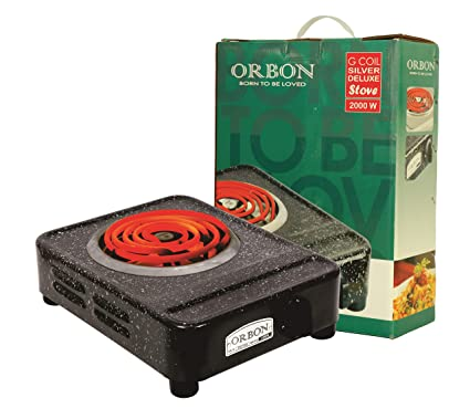 ORBON 2000 Watt Big Rectangular Marble Vitreous Black G Coil Stove Hot Plate Induction Cooktop/Induction Cookers/Electric Cooking Heater/Induction Radient Cooktop ( MADE IN INDIA )( HUGE DIWALI DISCOUNT & FREE SHIPPING )