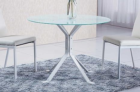 Mesa comedor estructura metálica blanca modelo GINEBRA color ...