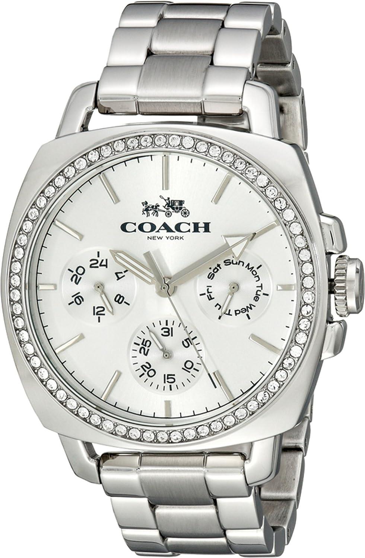 COACH Women's Boyfriend 40MM Bracelet Watch Silver Watch