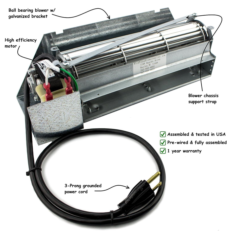 Fireplace Blower Kit for Lennox Superior FBK-100 FireplaceBlowersOnline FBK-100KIT