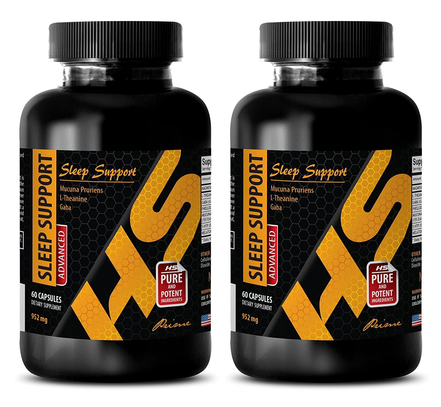 Amazon.com: testosterone booster supplement - SLEEP SUPPORT - ADVANCED BLEND 952Mg - melatonin capsules - 2 Bottles (120 Capsules): Health & Personal Care
