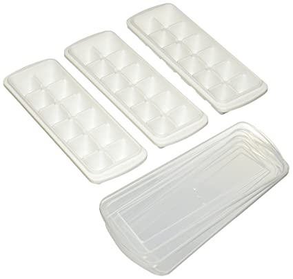 Amian Shop Ice Cube Tray with Removable Cover,Make 36 Large Ice Cubes,Easy
