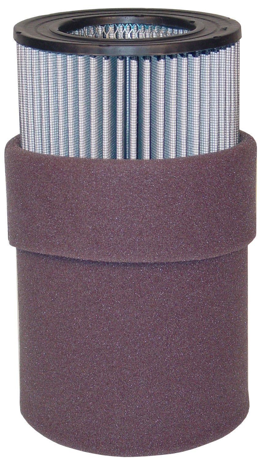 Solberg 235P Polyester Filter Cartridge, Blower, Vaccum Pump, 9-5/8'' Height, 4-3/4'' Inner Diameter, 7-7/8'' Outer Diameter, 570 SCFM, Made in the USA by Solberg